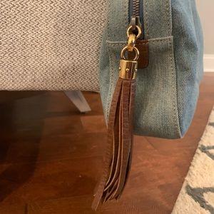 Gucci Bags - Gucci Soho Chain denim shoulder bag with fringe